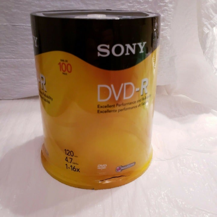 SONY DVD-R 4.7GB 100Pk 120min Opt Media