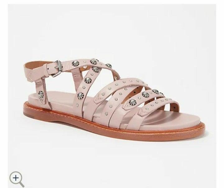 Frye Embellished Leather Straps Sandals