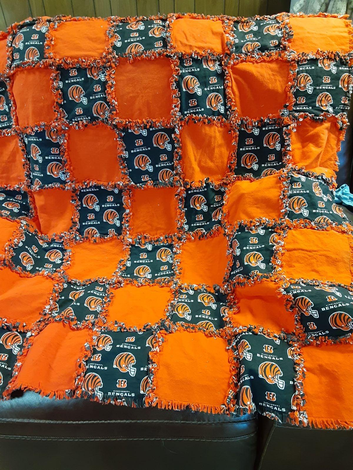 Cincinnati Bengals lap quilt