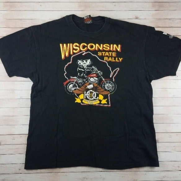 VTG 90s HOG Harley Owners Wisconsin Tee