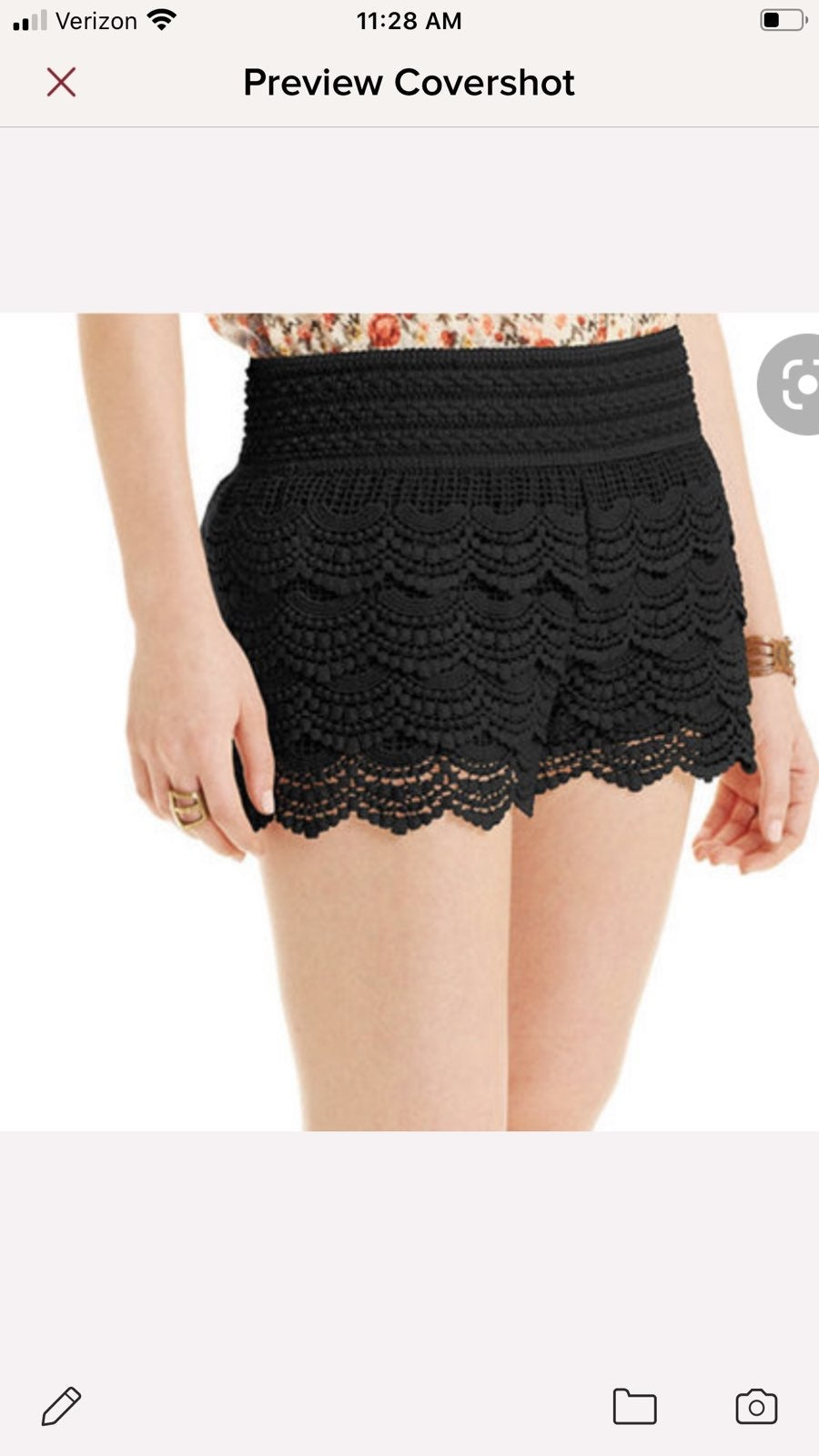 American Rag Crocheted Knit Shorts