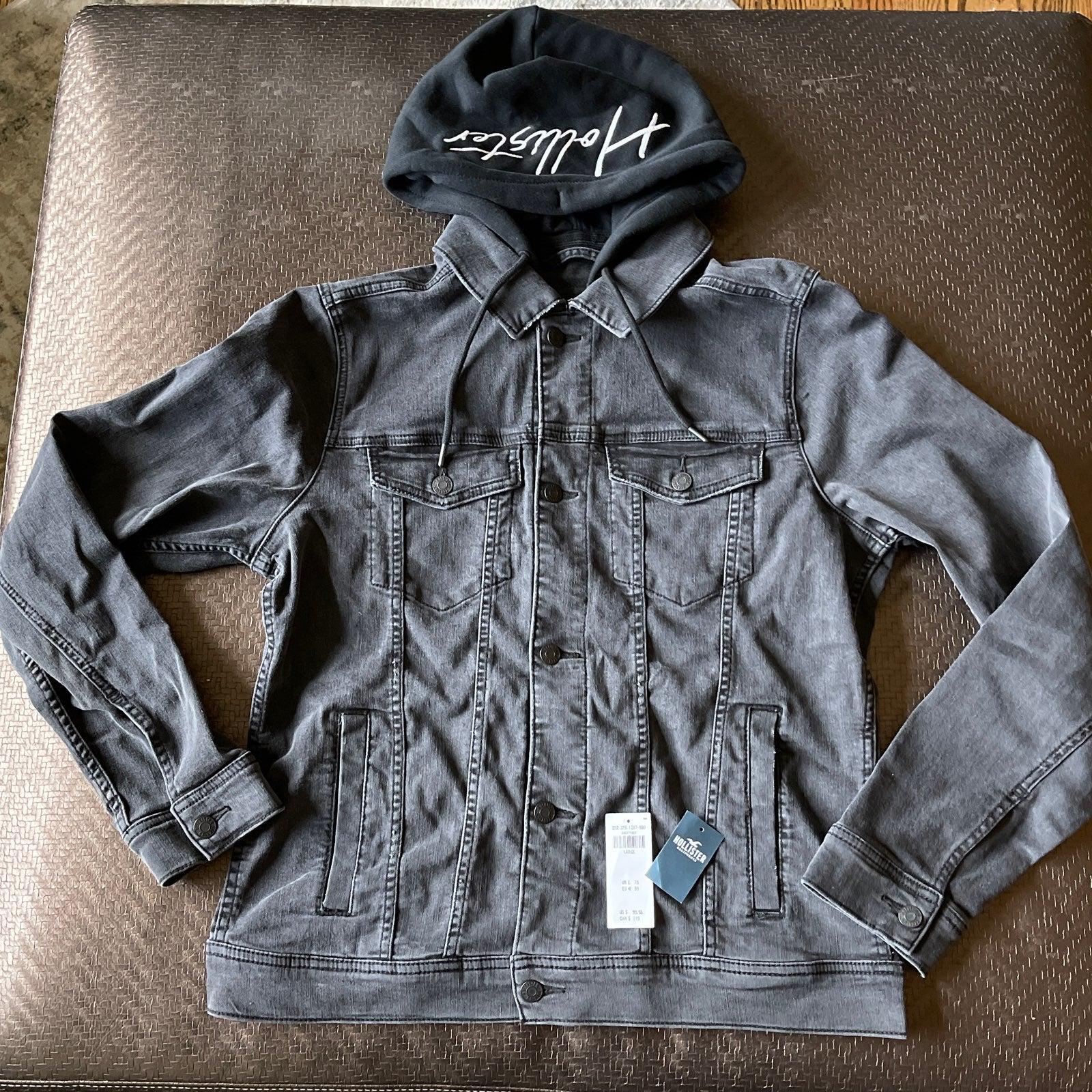 Hollister Black Jean jacket