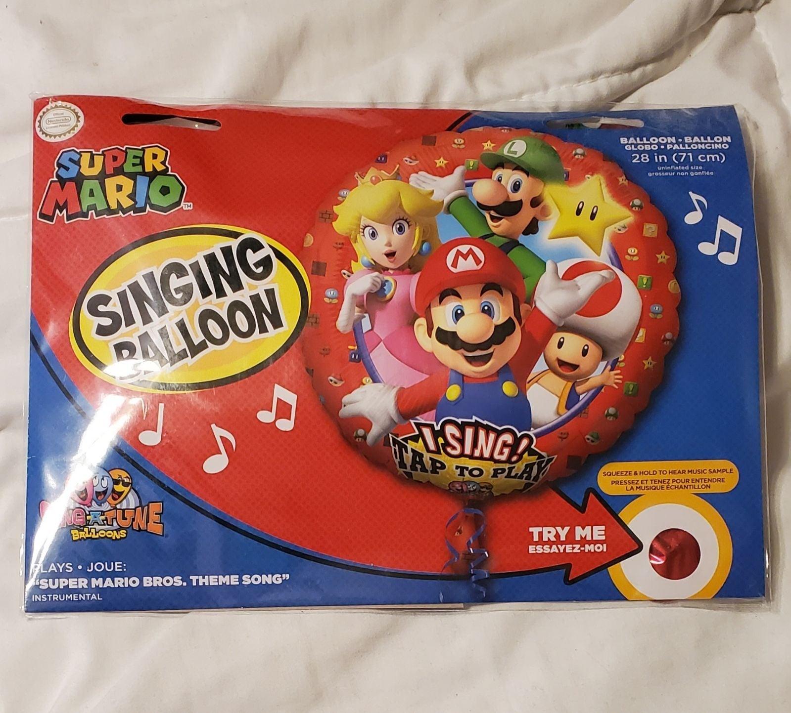 Super Mario Brothers singing balloon