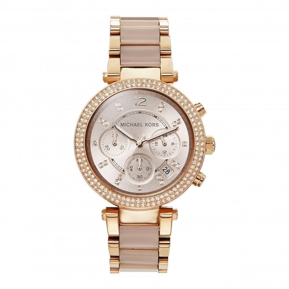 MK Gold Blush Acetate Watch