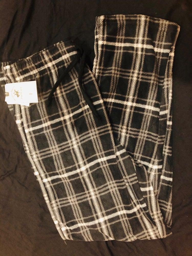 Men fleece pajamas polo club size s