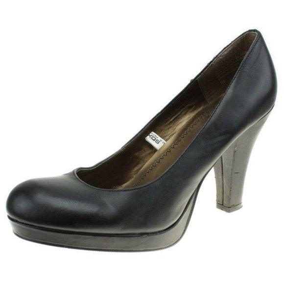 Mossimo Womens Black Leather Heels