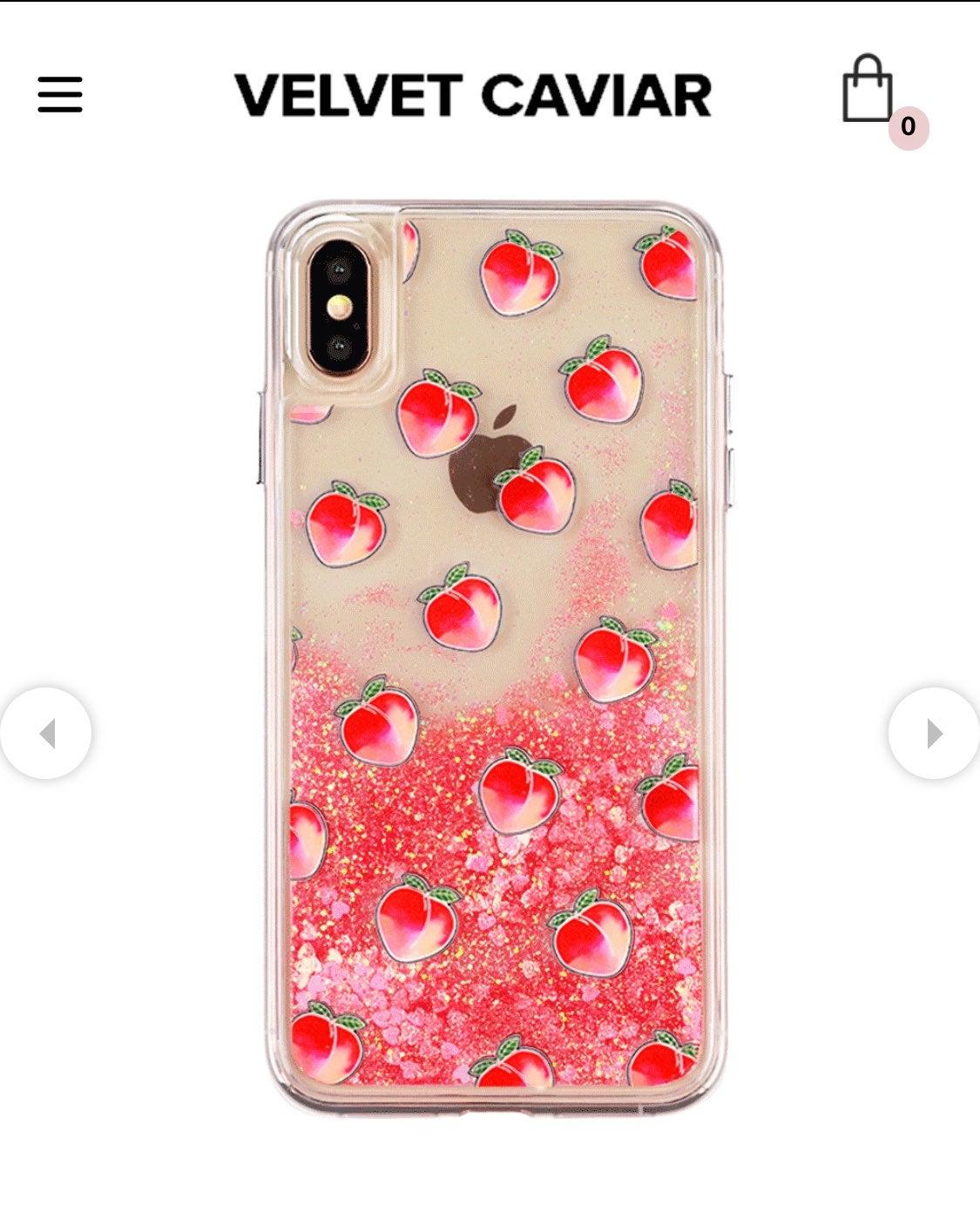 Iphone x phone case glitter