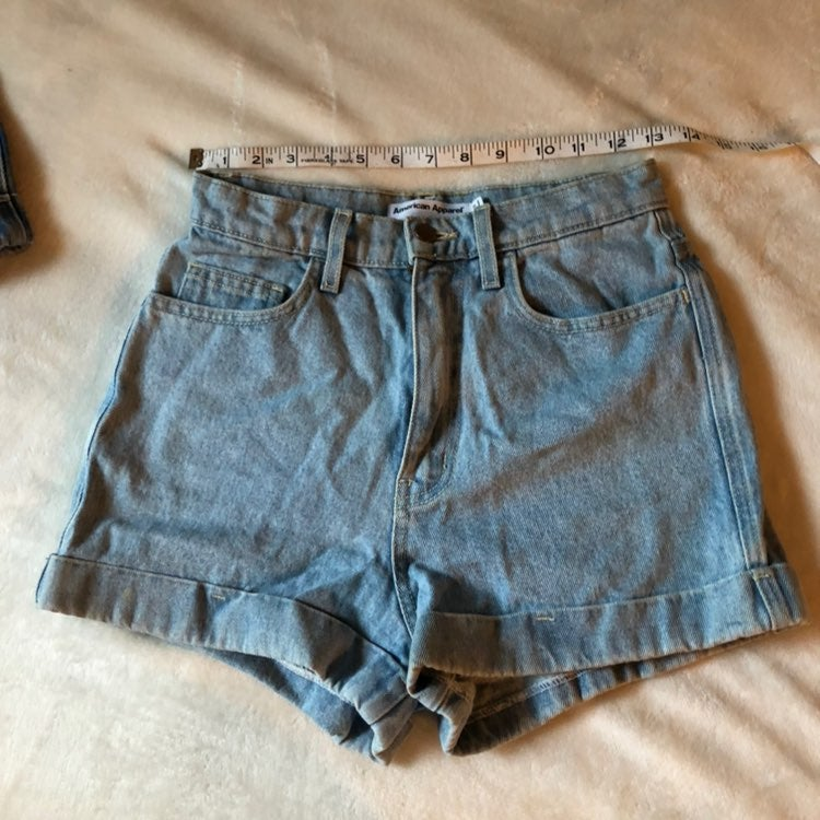 American apparel OG denim shorts size 27