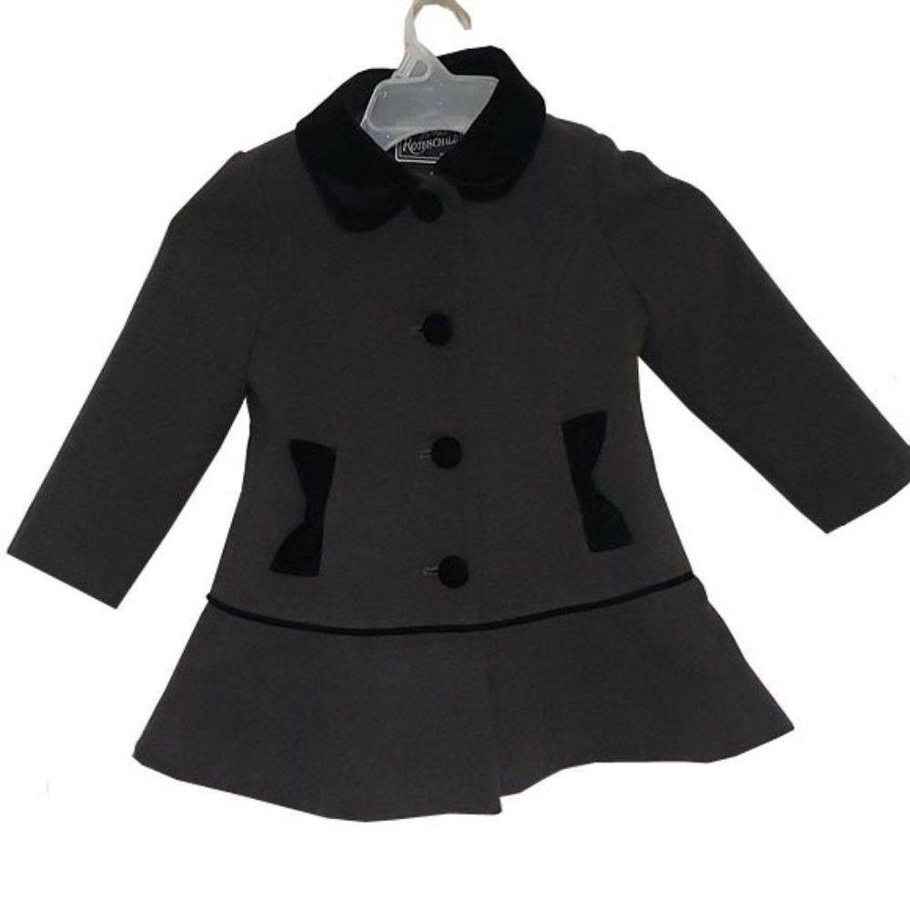 Rothschild Faux Wool Coat Dress Hat Grey