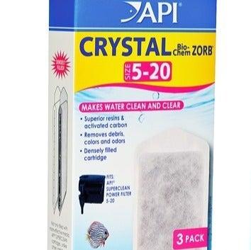 API Crystal Bio-Chem Zorb Filters 3pc
