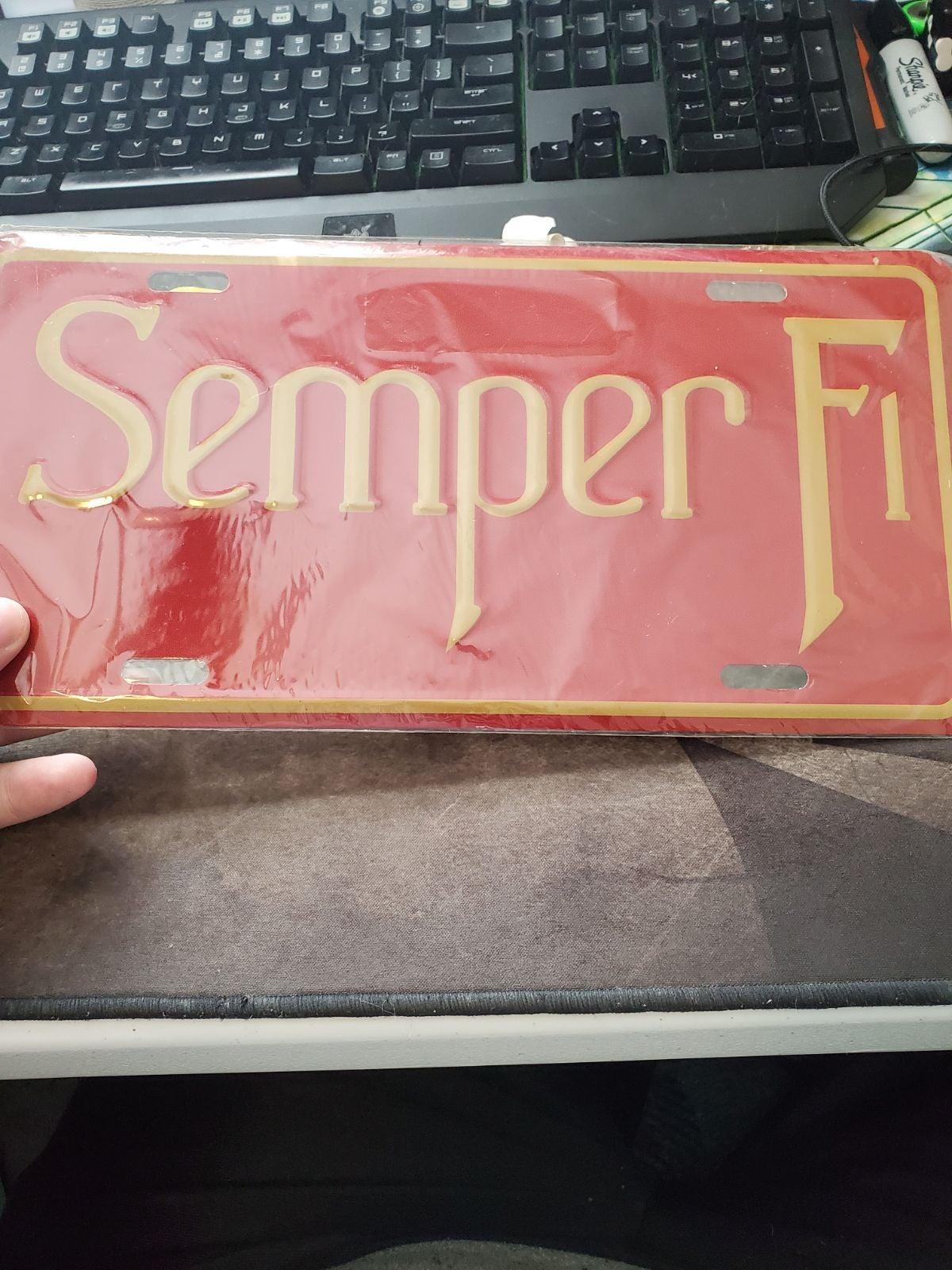 US Marines Semper Fi License Plate *Seal