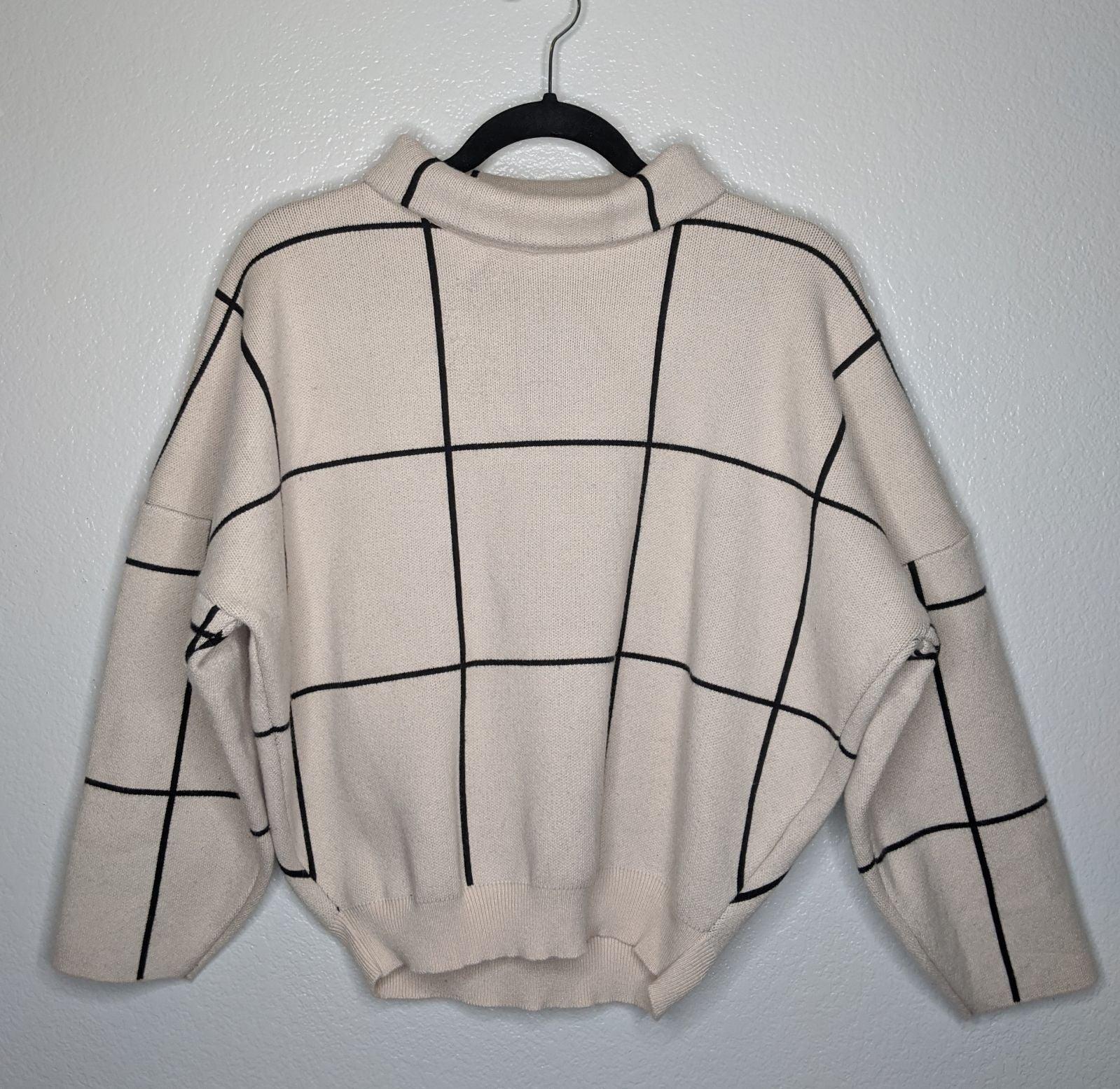 Oversized High-neck long sleeve sweater