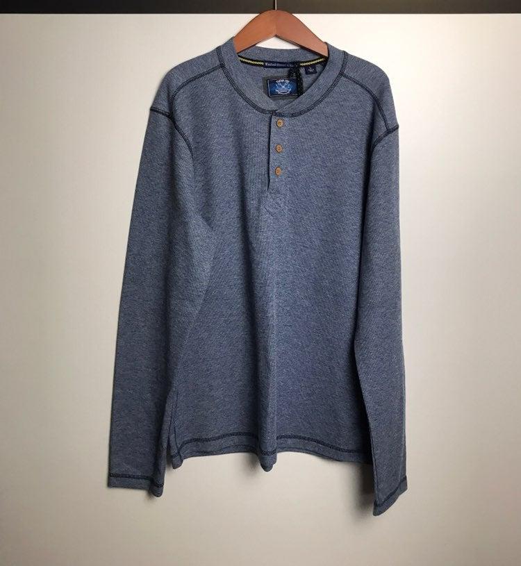 thermal long sleeve t-shirt for men blue
