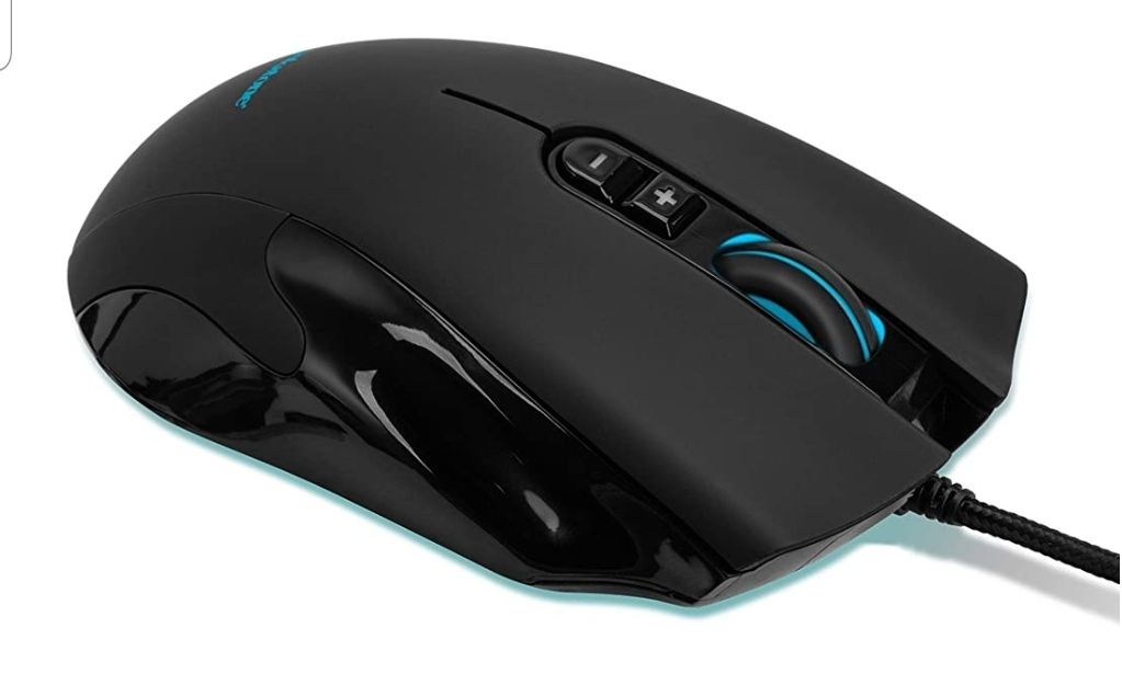 NIB Brookstone USB Wired Gaming Mouse wi