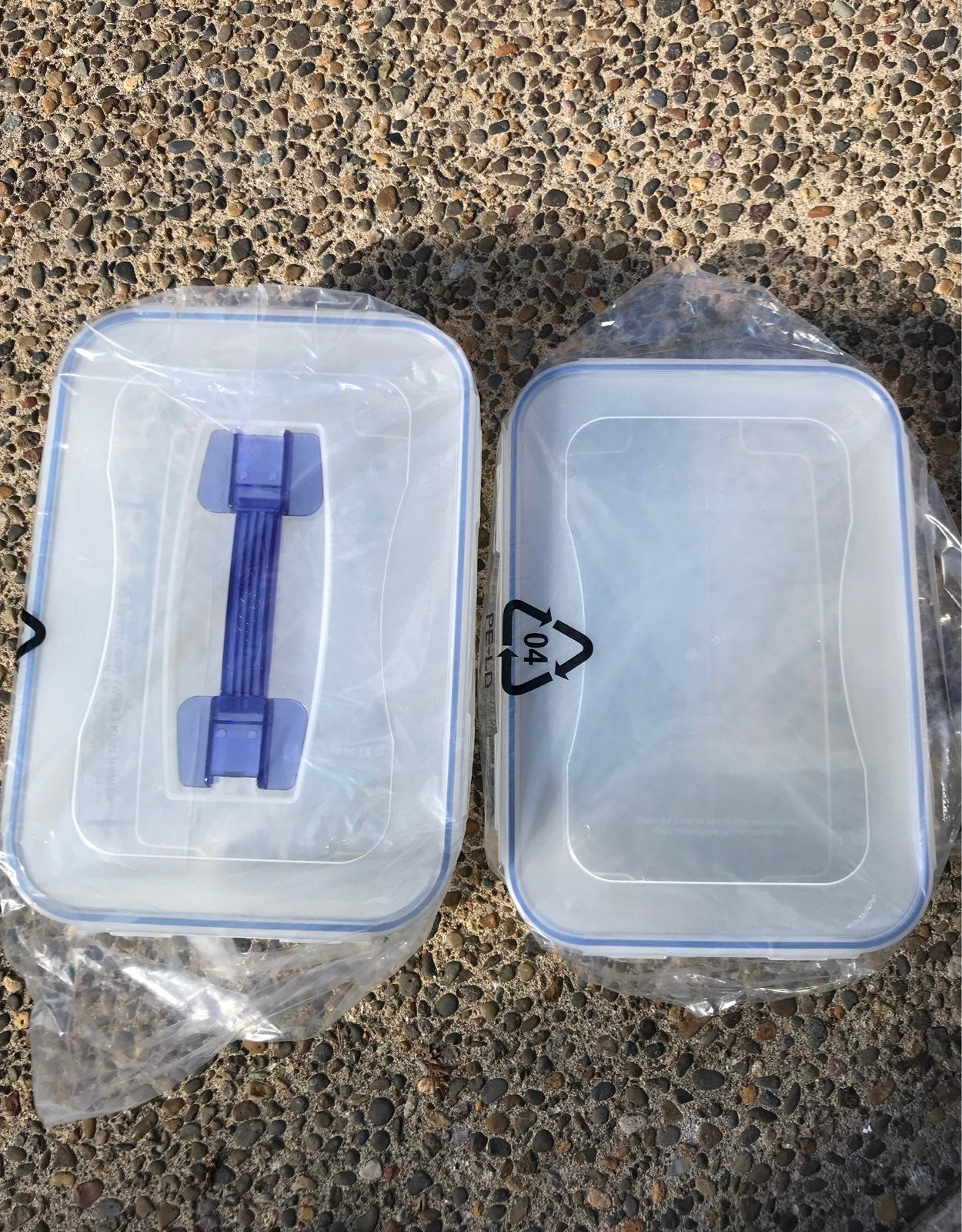 Lock & Lock 4 cake pan  storage set new