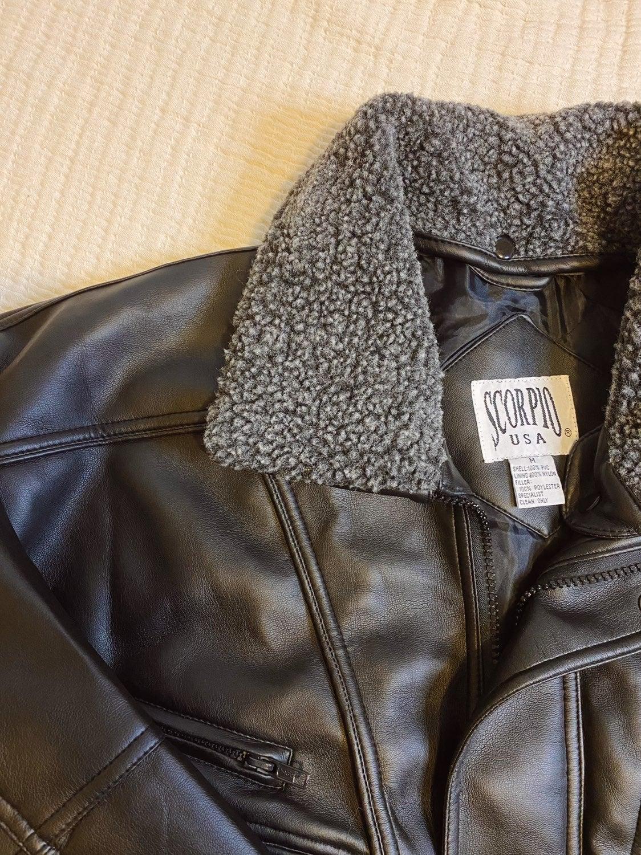 NWT Scorpio USA Black Leather Jacket