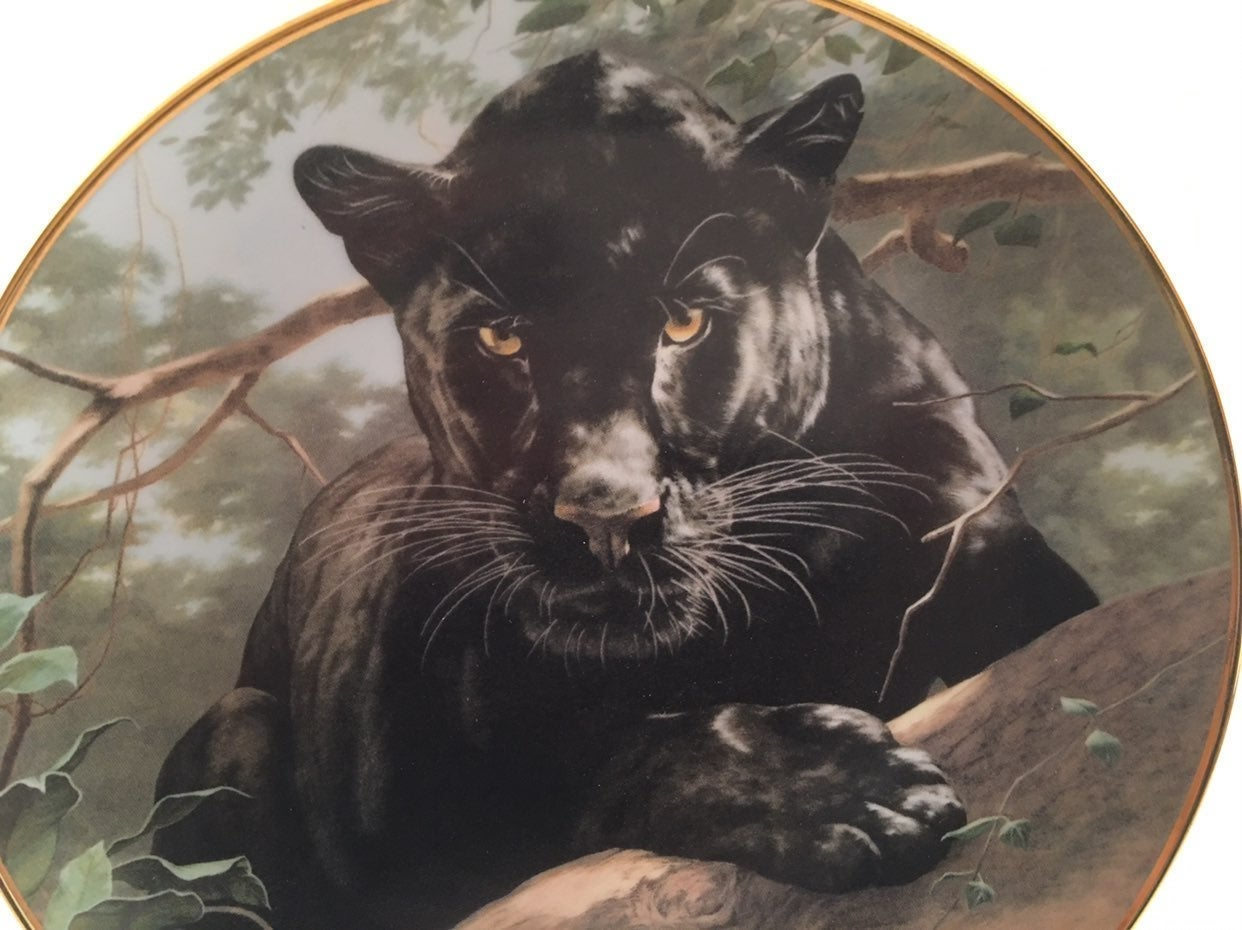 Panther Plate Silent Watch Franklin Mint