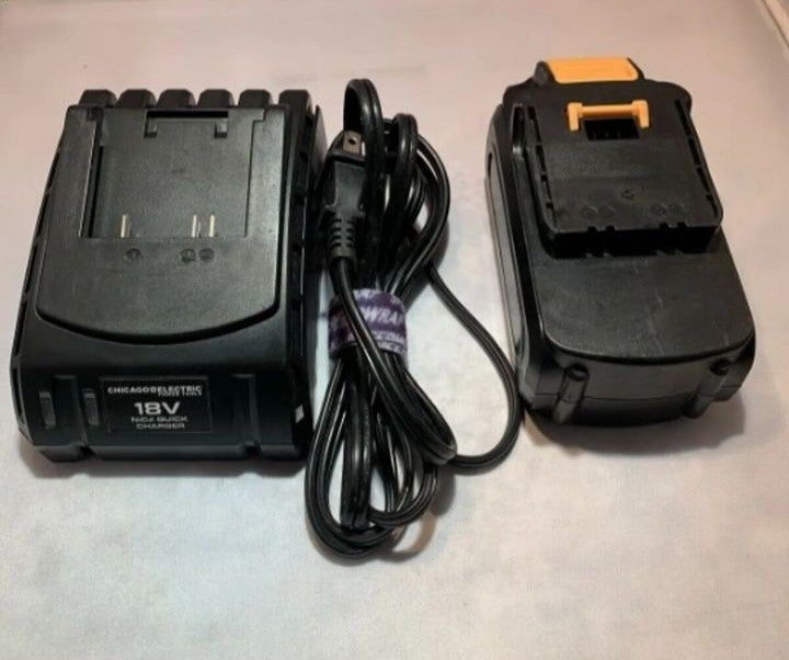 CHICAGO ELE 18V NiCd BATTERY & CHARGER