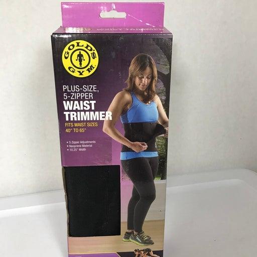 Golds Gym plus size 5-zip waist trimmer
