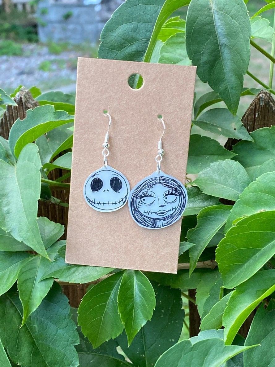 Handmade Jack and Sally Earrings from Th