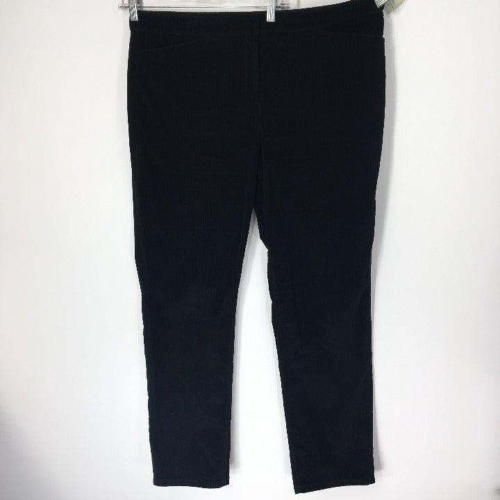 J Jill 16 Pants Straight Corduroy Black