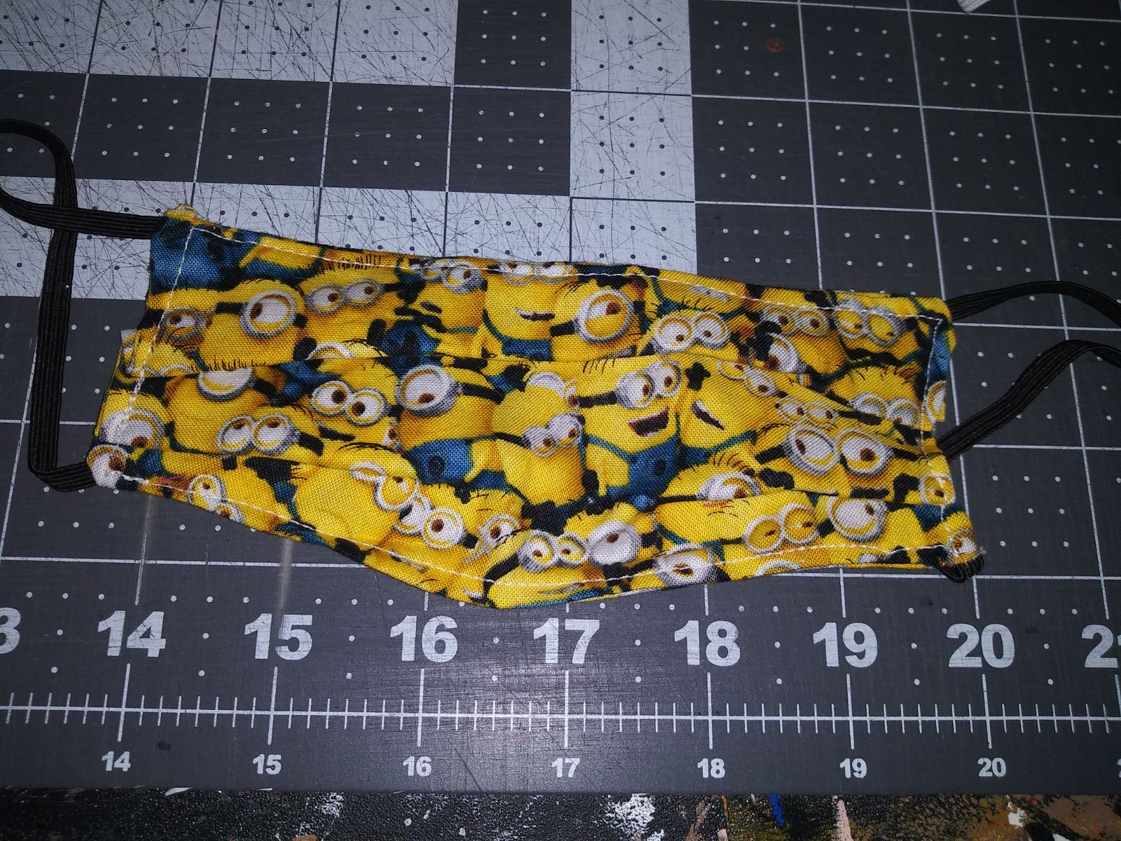 Child's minion cotton fabric face mask