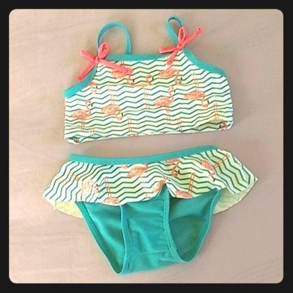 Girls Sol Swim 2 Piece Bathing Suit 6/9M
