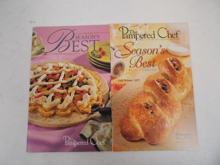 2 Pampered Chef Recipe Books Like New!