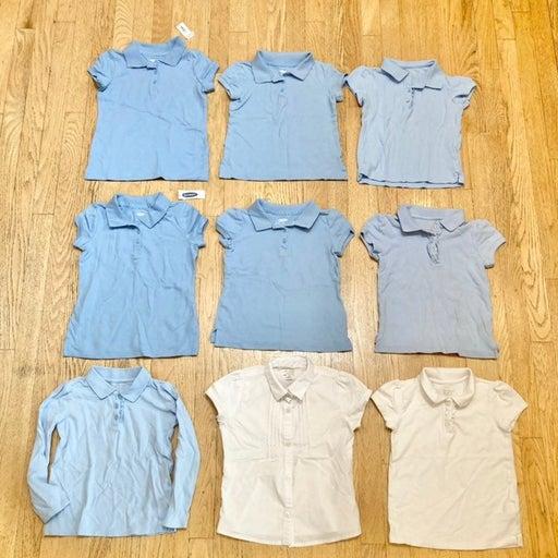 Girl Uniform Polo Bundle sz 5 Shirt Blue