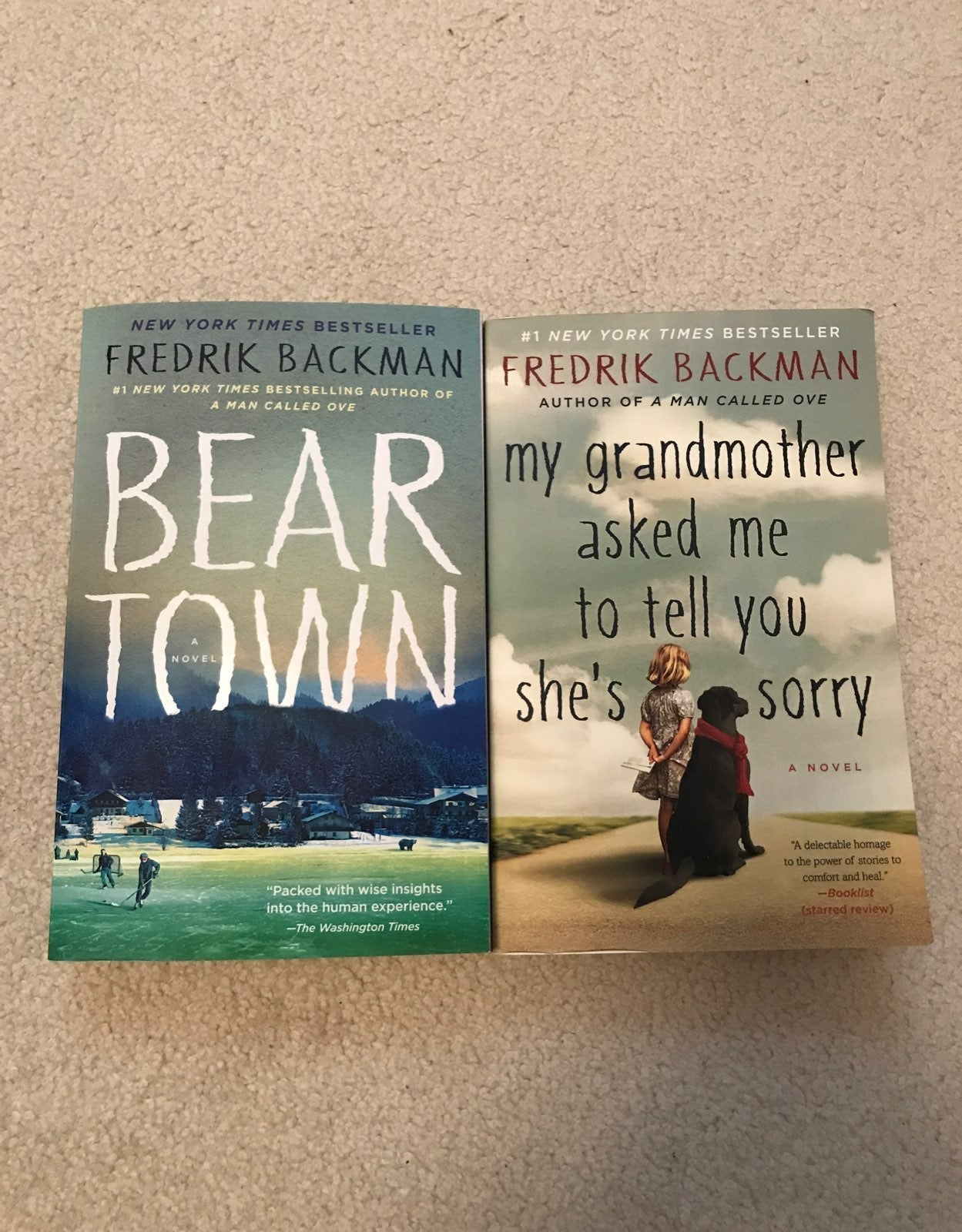 Fredrik Backman books, Beartown, my Gran