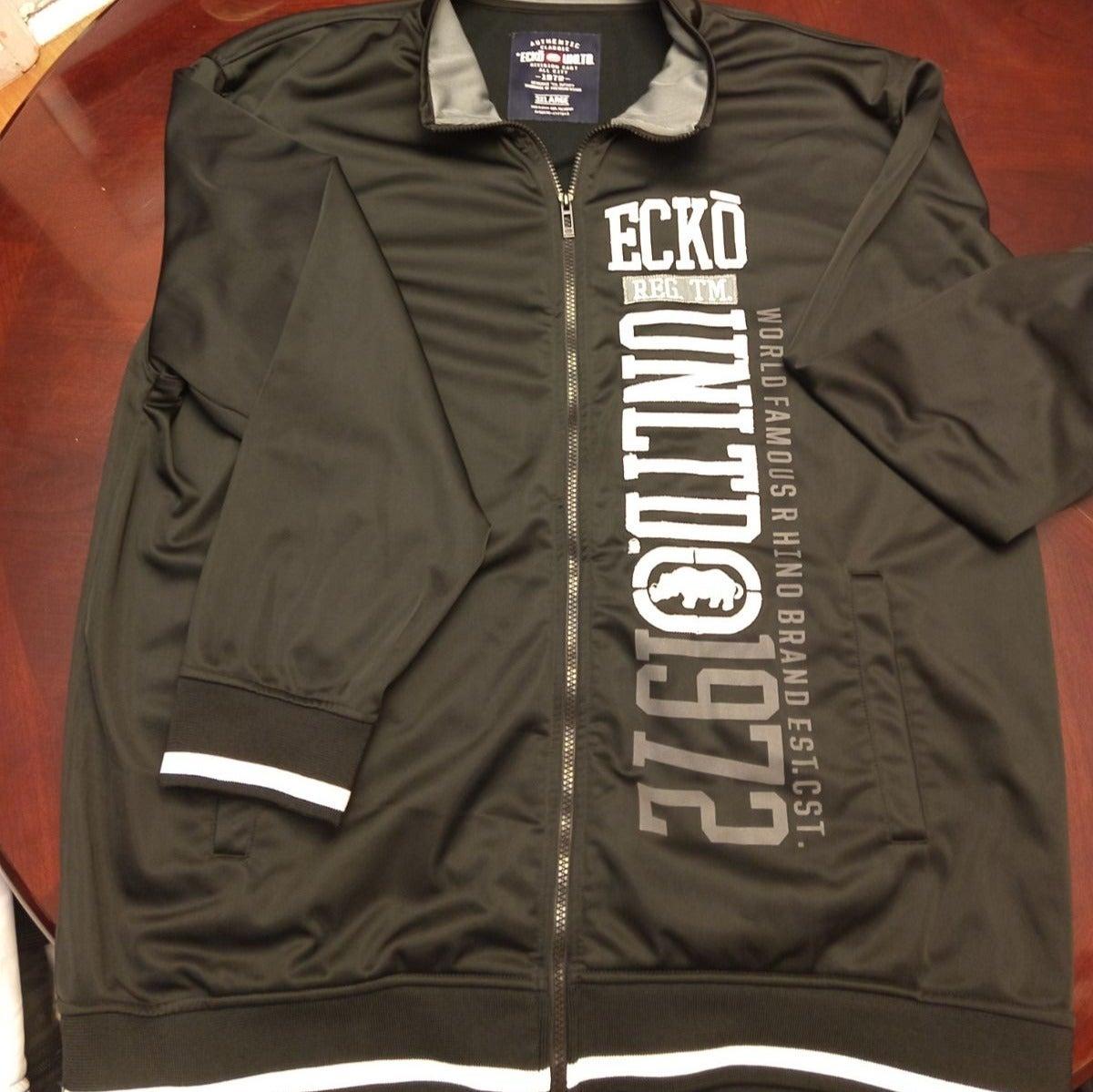 Mens Ecko Black Sport Zipper Hoodie 3XL