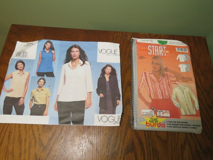 Sewing Patterns Vogue Burda Shirt Top