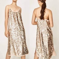 Zara Sequins Midi Dresses Mercari
