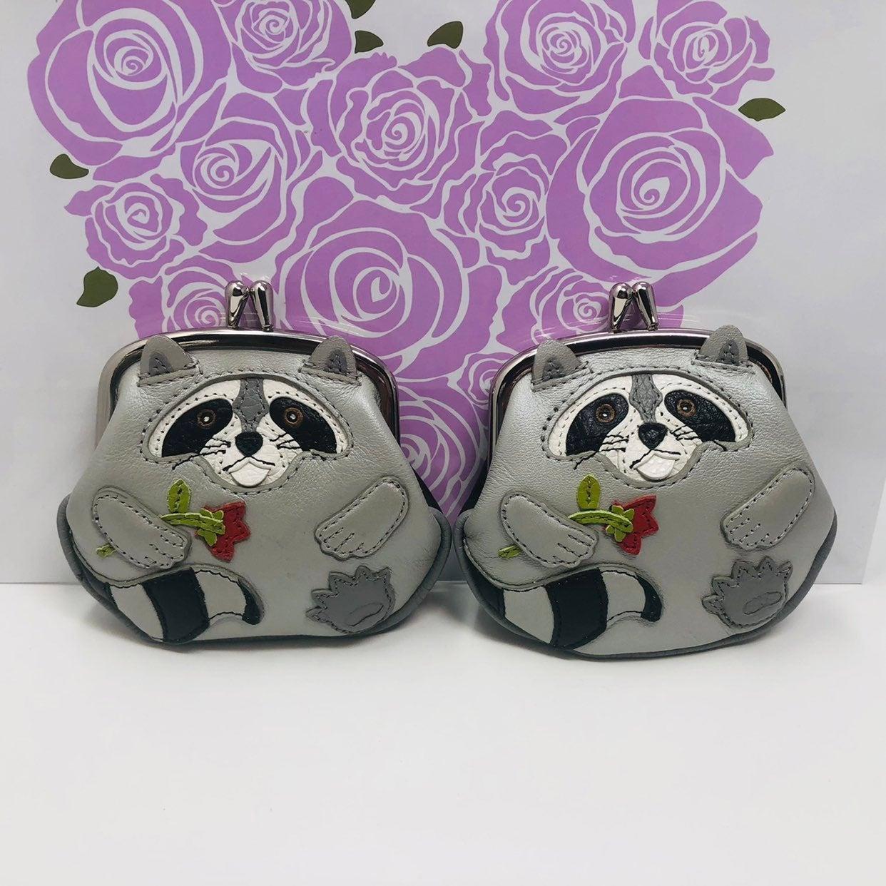 2 brighton raccoon coin purses