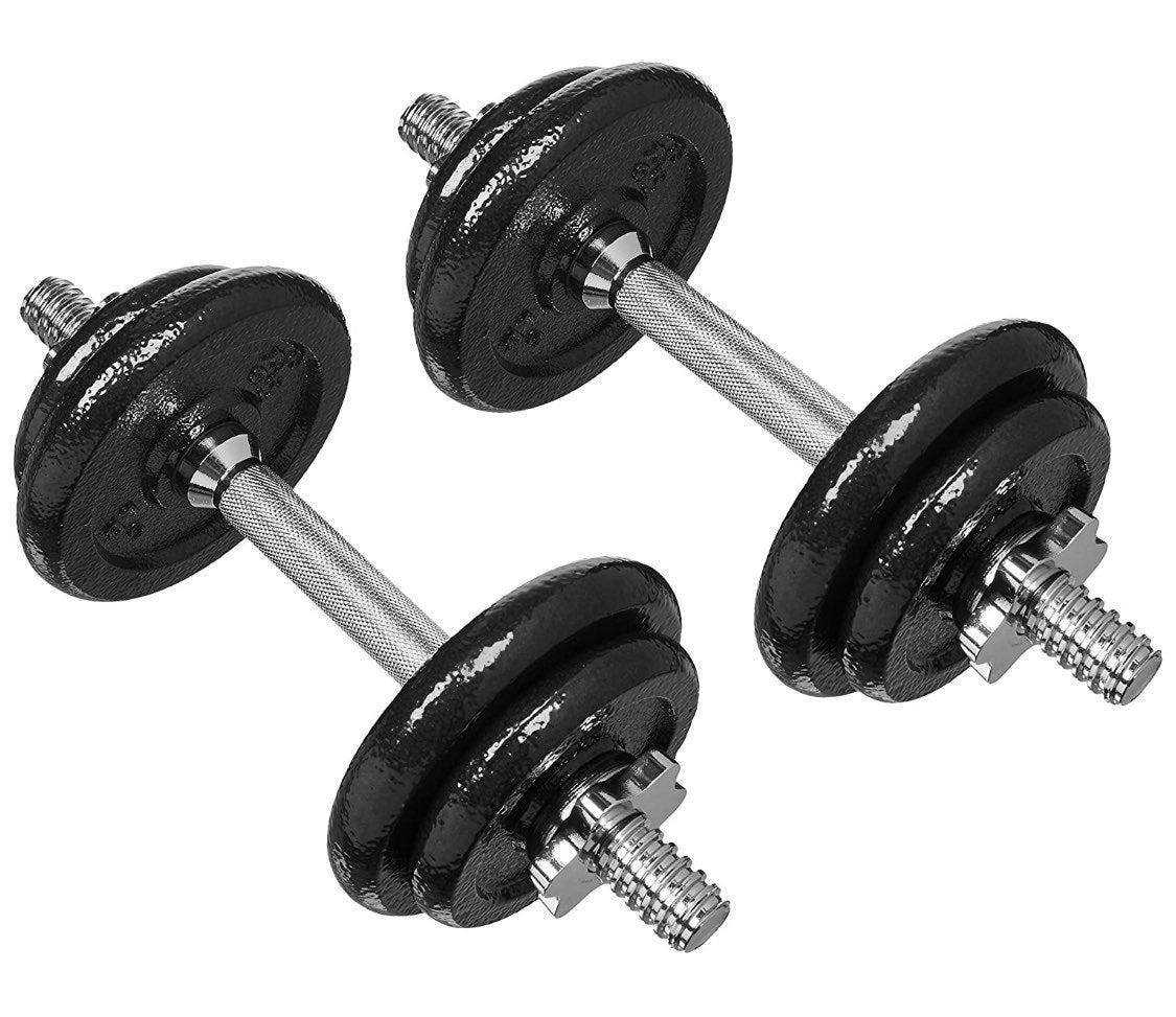 Adjustable 19lb dumbbells set (pair)
