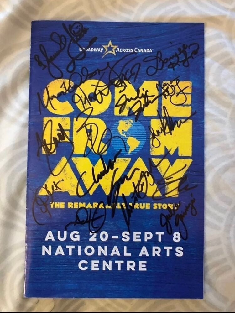 Come From Away Signed Playbill