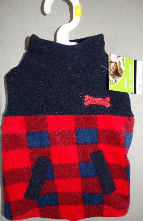 Dog fleece pet jacket Size Small warm
