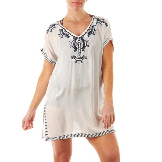 Embroidered Tunic Cover-Up .New.