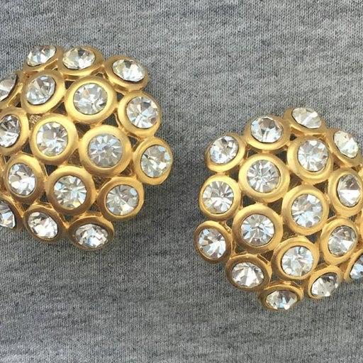 Vintage Signed Craft Crystal Earrings