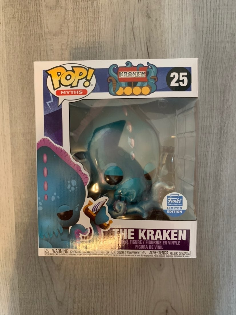 "Kraken Pop Funko Myths 6"" New in box"