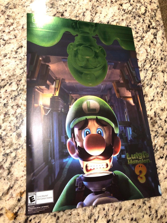 Luigis Mansion Metallic Poster