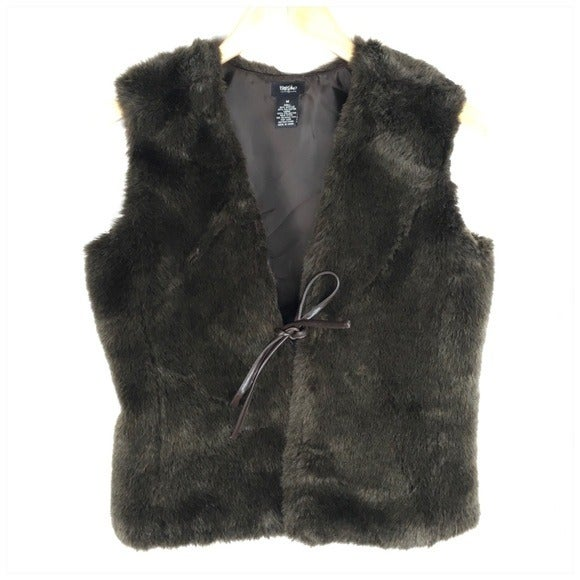 Mossimo Brown Faux Fur Vest