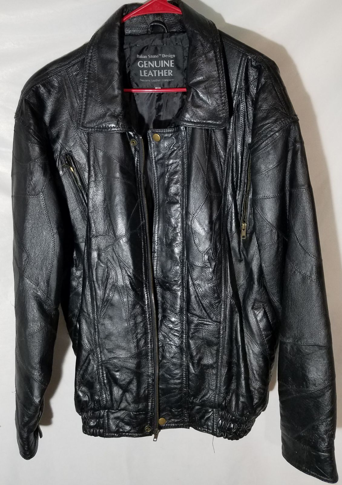 Giovanni Navarre Italian Leather Jacket