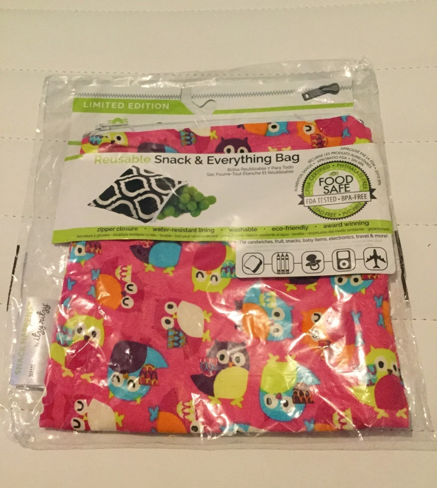 Itzy Ritzy Reusable Snack Everything Bag
