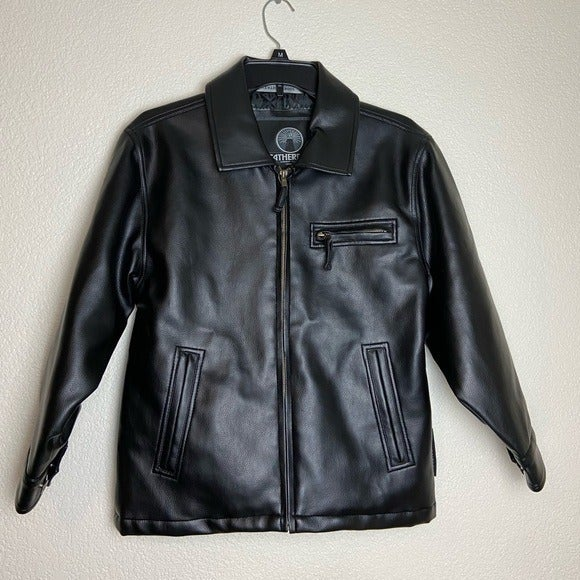 WEATHERPROOF leather jacket size 8 black