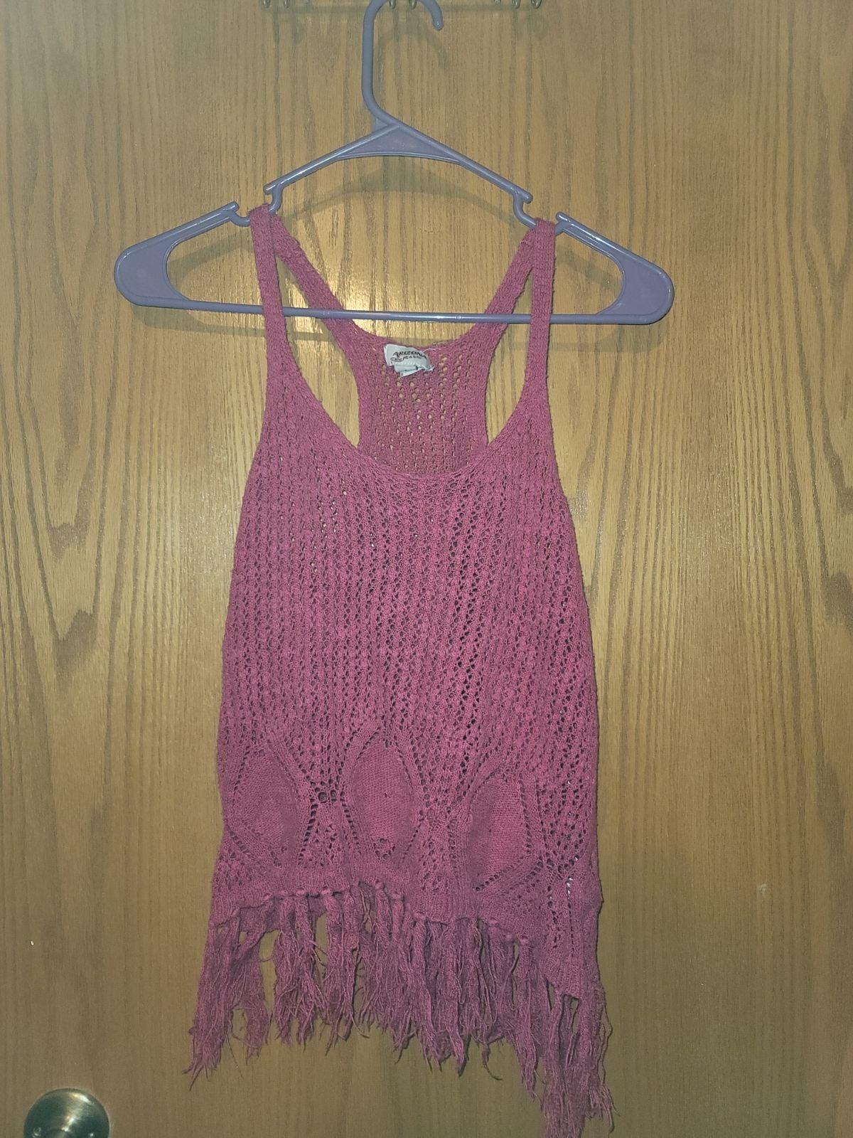 Pink knitted racerback tanktop