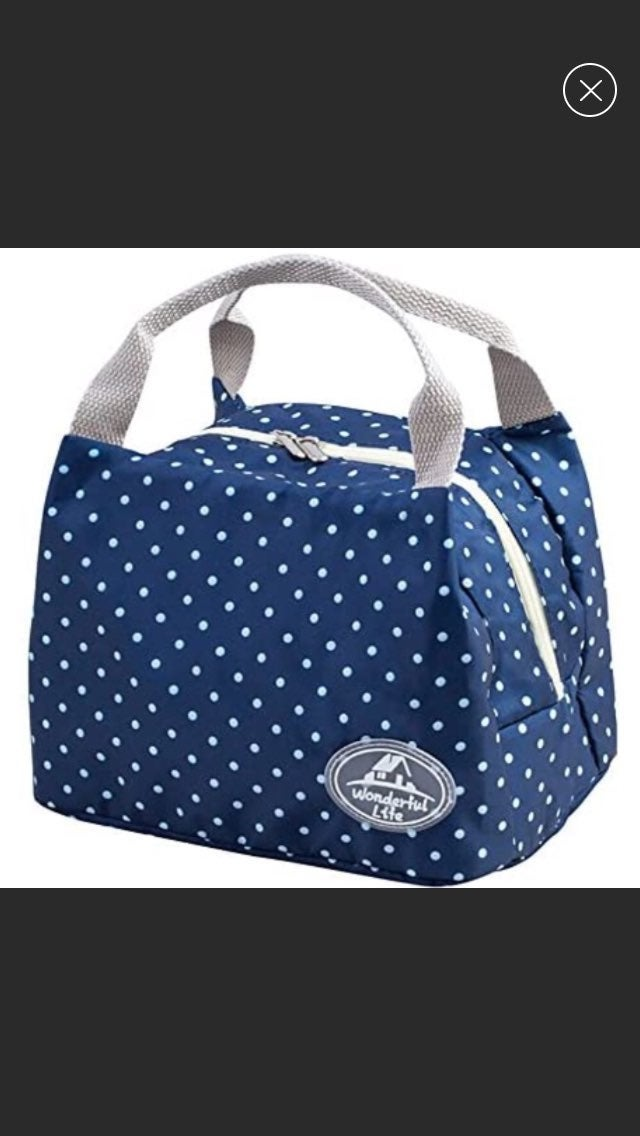 Wonderful Life Navy Insulated Lunchbox