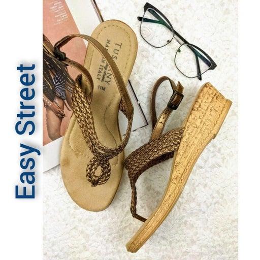 Tuscany EasyStreet Braid Thong Sandals B