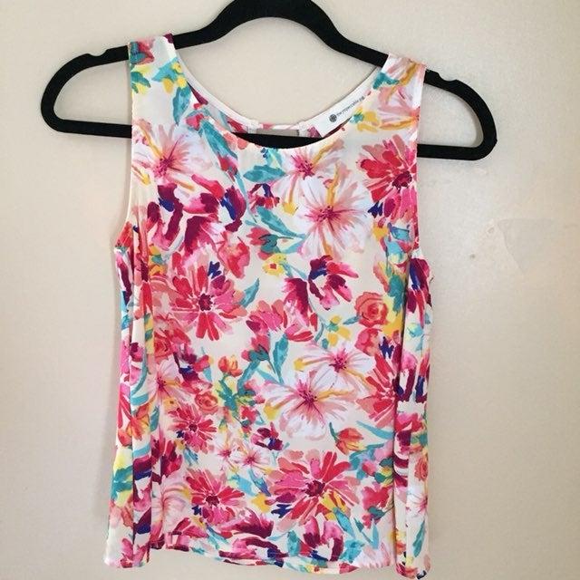 The impeccable pig floral tank blouse