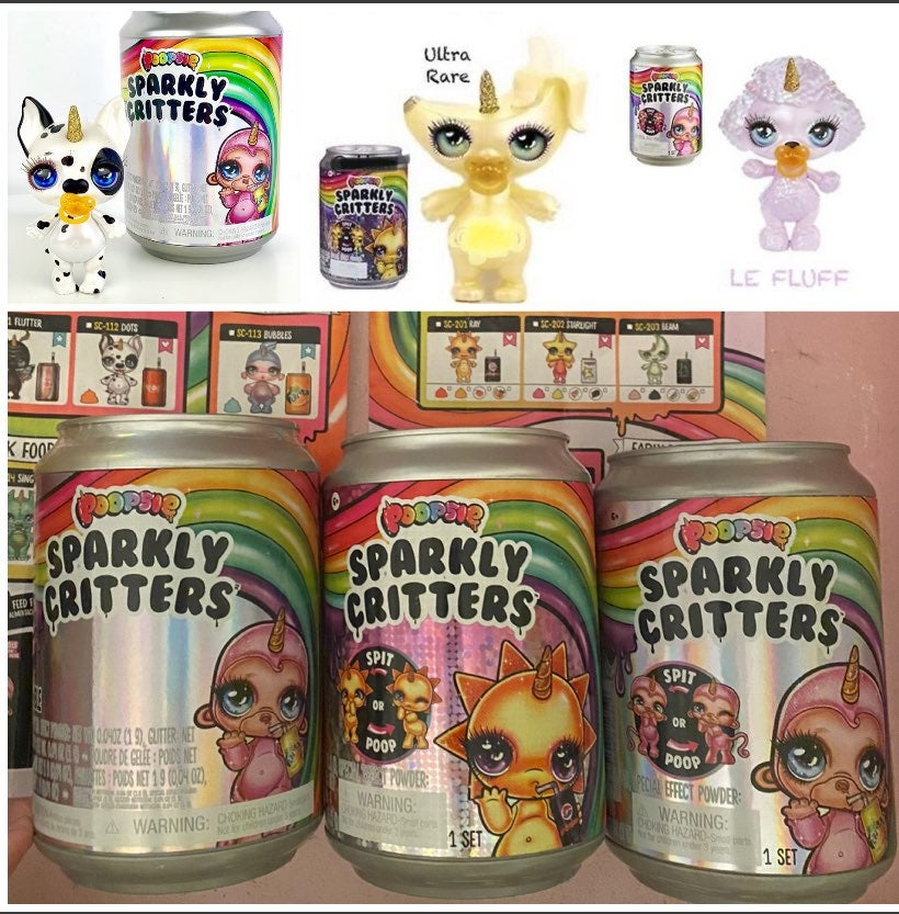 Poopsie Sparkly Critters Lot of